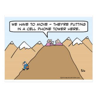 Guru tiene que moverse para la torre del teléfono postal