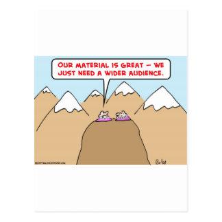 guru wider audience postcard