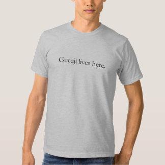 Guruji lives here men's tee. t shirt