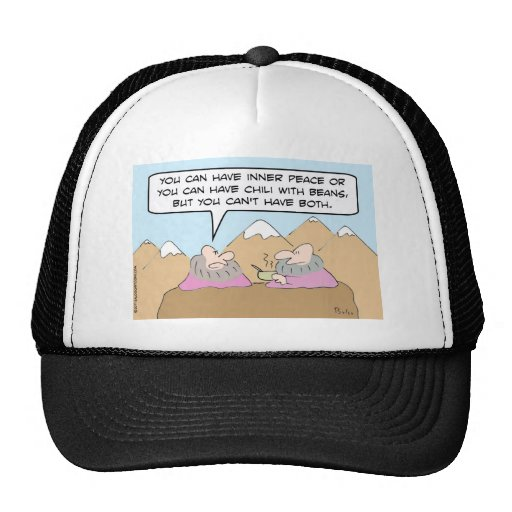 gurus chili beans inner peace trucker hat