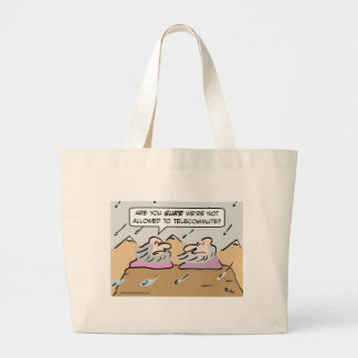 Gurus in bad weather. large tote bag