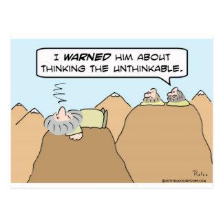 gurus thinking the unthinkable postcards