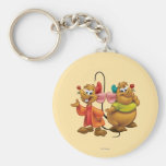 Gus and Jaq Basic Round Button Keychain