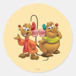 Gus and Jaq Round Sticker
