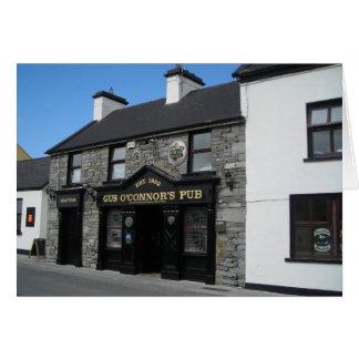 Gus O'Connor's Pub in Doolin Ireland Card