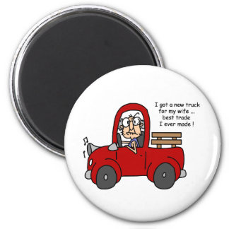 Gus on New Truck Tshirts and Gifts Magnet