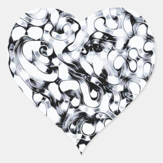 Gusano abstracto del Doodle Pegatina En Forma De Corazón