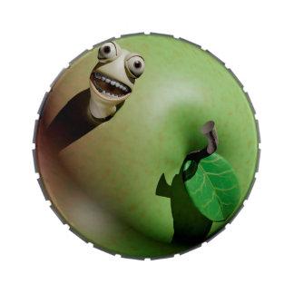 Gusano de Apple codicioso Latas De Dulces