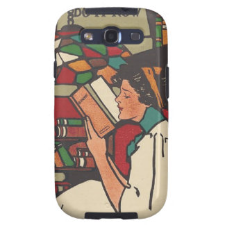 Gusano de libro de la CAMISETA Galaxy S3 Protector