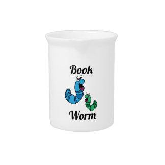 Gusano de libro jarras para bebida