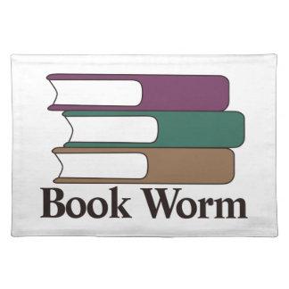 Gusano de libro manteles individuales
