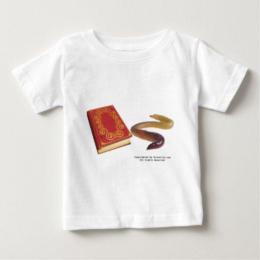 Gusano de libro t shirts