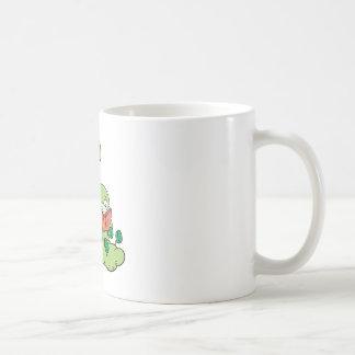 Gusano de libro y oso lindos de la lectura tazas de café