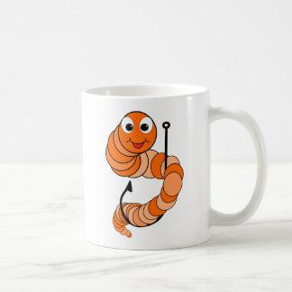 Gusano de pesca taza de café