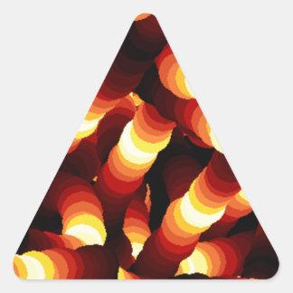 Gusano de resplandor abstracto de la luz de un pegatina triangular