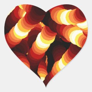 Gusano de resplandor abstracto de la luz de un pegatina en forma de corazón