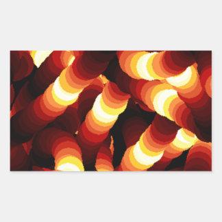Gusano de resplandor abstracto de la luz de un pegatina rectangular