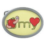 Gusano de U mi corazón Hebilla Cinturón Oval