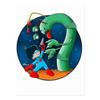 Gusano del astronauta y del dinosaurio postal