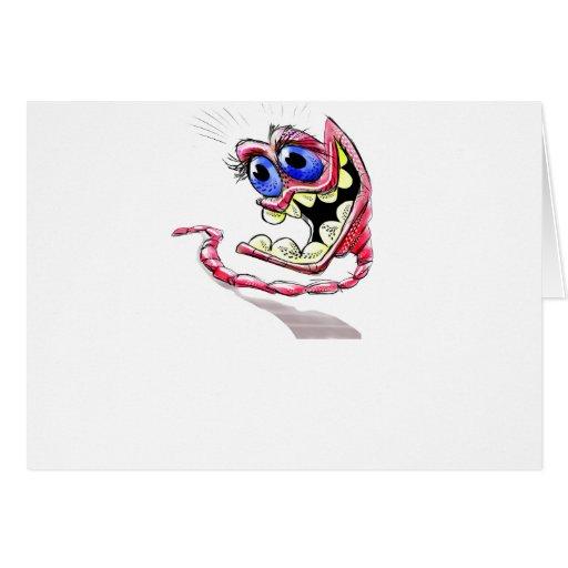 gusano del leopardo tarjeta de felicitación