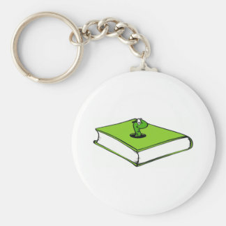 Gusano del Libro verde Llavero Personalizado