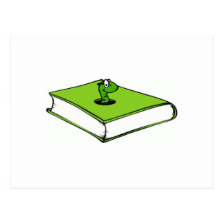 Gusano del Libro verde Postales
