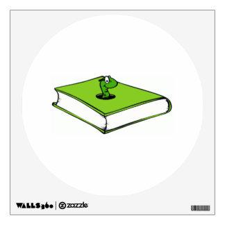 Gusano del Libro verde Vinilo Decorativo