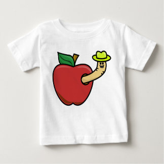 Gusano en Apple Poleras