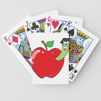 Gusano feliz en Apple rojo Barajas De Cartas