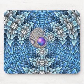 Gusano furtivo en el abismo azul - 3D Alfombrillas De Ratón