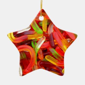 Gusano gomoso adorno de cerámica en forma de estrella