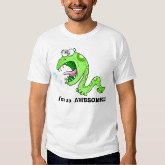 "Gusano insano ""soy tan IMPRESIONANTE!!!"" Camiseta Playeras"