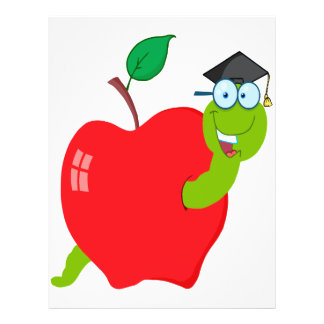 """gusano lindo de la graduación del graduado de la folleto 8.5"""" x 11"""""""