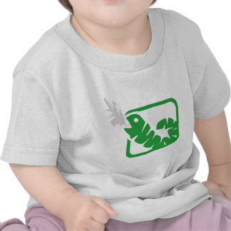 gusano que fuma camisetas