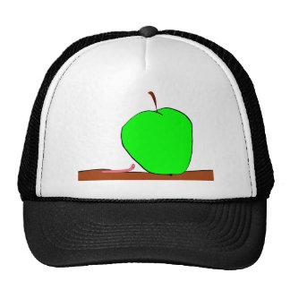 gusano y manzana grande gorras de camionero