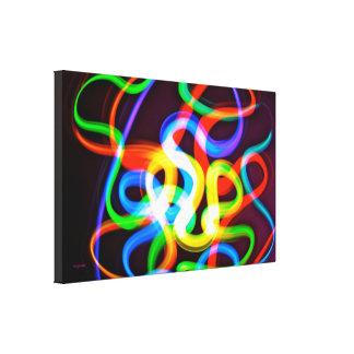 Gusanos bioluminiscentes impresión en lona