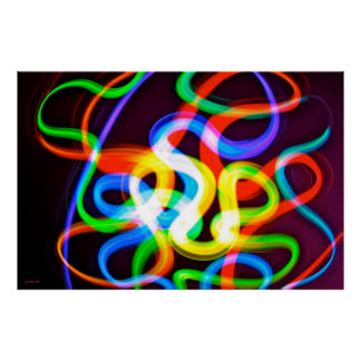 Gusanos bioluminiscentes póster