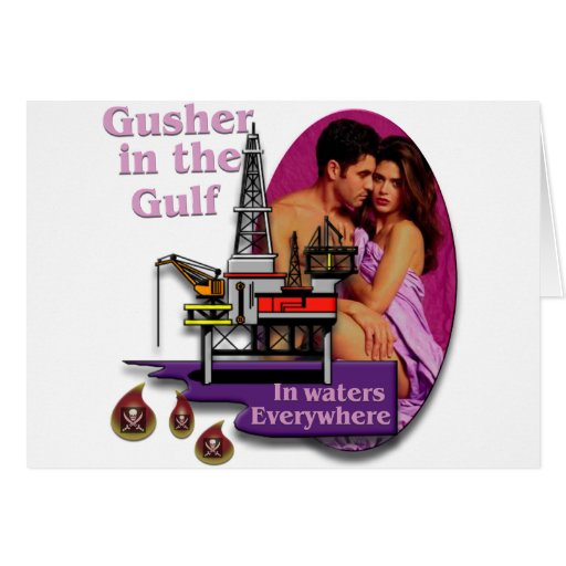 Gusher in the Gulf #2 Greeting Card