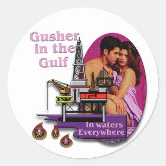 Gusher in the Gulf #2 Round Sticker