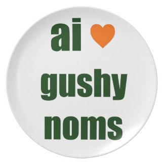 Gushy Noms Dinner Plate