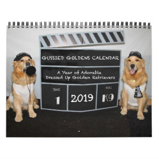 Gussied Goldens 2019 Calendar - Style 3