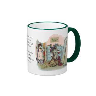 Gussied Up Cat Preens in Mirror Coffee Mug