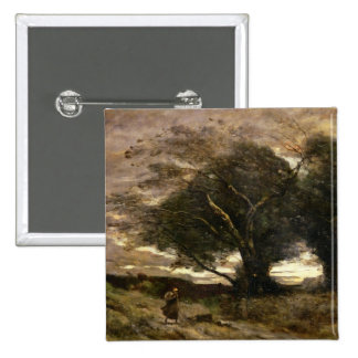 Gust of Wind, 1866 Pinback Button