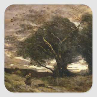 Gust of Wind, 1866 Square Sticker