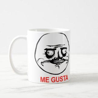 Gusta hace frente a Meme Taza De Café