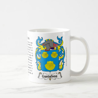 Gustafson Family Coat of Arms mug