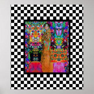Gustav & Elizabeth ~Poster / Abstract Modern Retro