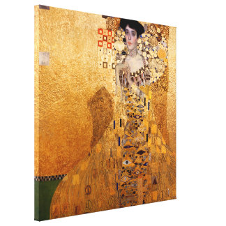 Gustav Klimt, 1907 Portrait of Adel Bloch Bauer. Canvas Print