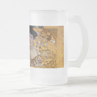 Gustav Klimt - Adele Bloch-Bauer I. Frosted Glass Beer Mug
