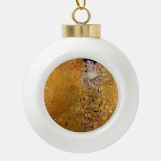 Gustav Klimt - Adele Bloch-Bauer I. Ceramic Ball Christmas Ornament